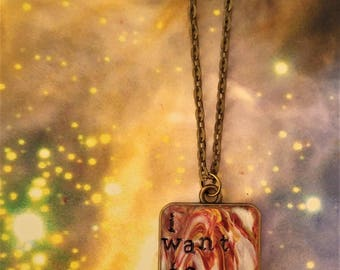 Queen I Want to Break Free Pendant Necklace