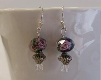 Purple rose dangle