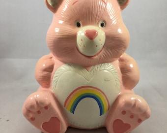 Vintage 1980s Pink Cheer Bear Care Bears Bank