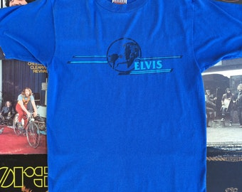 1981 Vintage Elvis Presley Shirt // 80's Vintage Band Tee // The King
