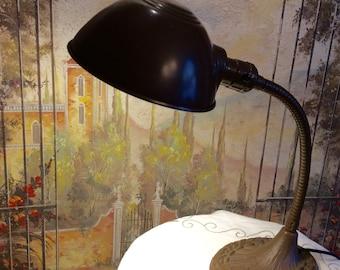 Vintage Gooseneck Iron Lamp
