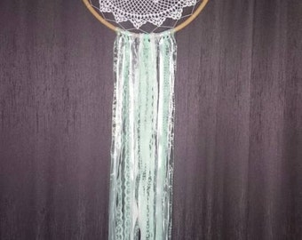 Mint and white vintage style dream catcher