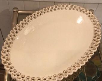 Large dish ceramic vintage signed 60 years