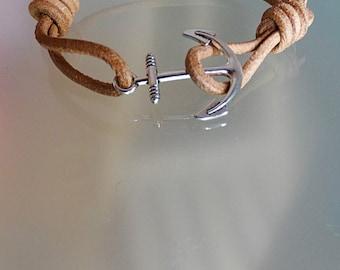 Anchor man gift anchor bracelet men nautical bracelet mens leather bracelet wrap mens everyday bracelet bohemian bracelet men sea lover S-XL