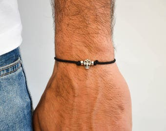 Skull Bracelet Men, Skull Jewelry, Men's Jewelry, Men's Bracelet, Gift for Him, Made in Greece by Christina Christi Jewels.