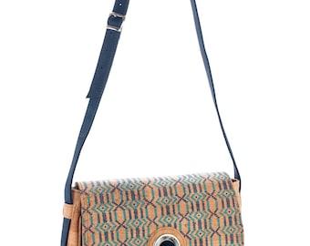 Crossbody bag, an ethno-look cork bag