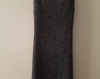 Vintage Little Black Dress / Vintage Sparkly Dress / Vintage Club Dress