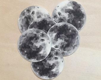 Moon Vinyl Stickers - 3 Sticker Pack
