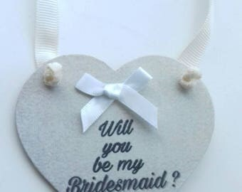 Will you be my Bridesmaid,  bridesmaid to be, bridesmaid gift, bridesmaid keepsake, wedding party gift, wedding keepsake, bridesmaid heart