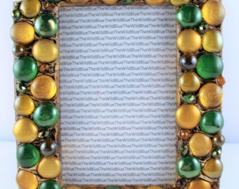 4x6 Green and Gold Gem Mix Picture Frame