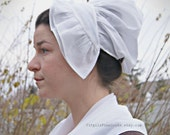 Double Ruffle French Style Cap- French & Indian War- 18th Century Reproduction