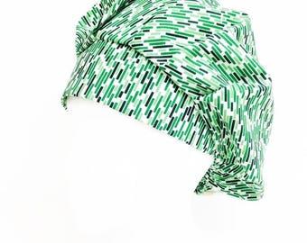 Green Noise Bouffant Scrub Hat, Scrub Cap, OR Hats, Surgical Cap, Scrub Cap for Women, ORHatsByBonita/ Surgical Hat