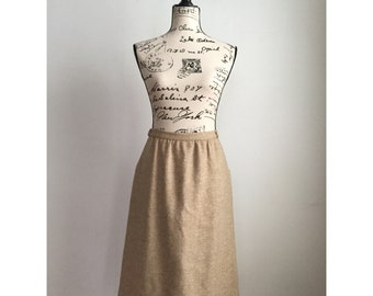 Vintage Wool Skirt, Vintage Midi Skirt, Vintage Midi Skirt with Pockets