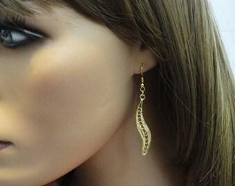 Boucles d'oreilles géométriques FANTASTIQUES, fait à la main Boucles d'oreilles, longues boucles d'oreilles, boucles d'oreilles or, Goft idée, minimaliste, EMAN45