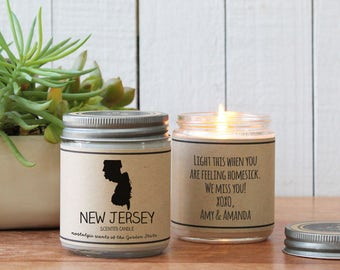 massachusetts scented candle homesick gift miss home gift