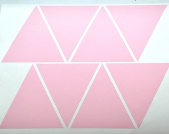 Pastel Pink Triangles/Triangles wall decal/Pastel Pink triangles stickers decor/Geometric shape/Vinyl Wall decor stickers/nursery wall decal