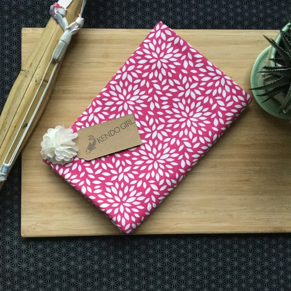 Furoshiki Gift Wrapping Cloth - Japanese Cotton Furoshiki - Bright Pink Flower Burst Design by Kendo Girl