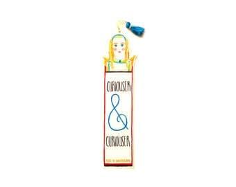 Alice in Wonderland - Tassel Quotation Bookmark - Curiouser & Curiouser