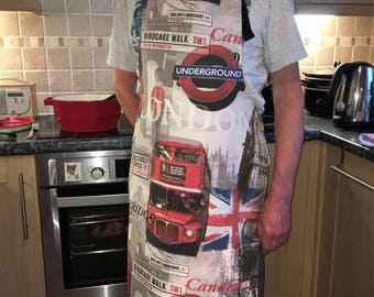 SALE London Bus Apron, BBQ, Bus Apron, UK seller