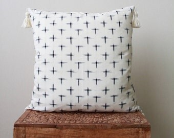 18x18 inch indian ikat pillow cover