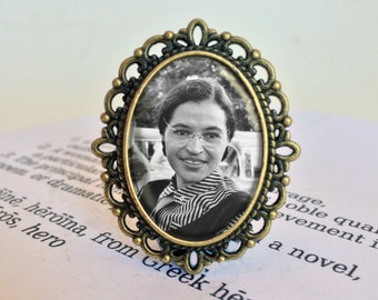 Rosa Parks Brooch - Civil Rights Movement Gift, Social Justice Jewelry, American Heroine, Rosa Parks Freedom Brooch, Rosa Parks Jewellery