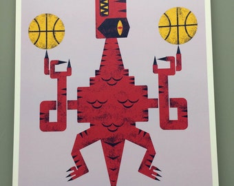 Toronto Raptors/Full Color/Digital Art Print