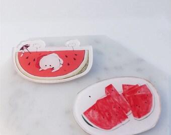 Watermelon pin; watermelon goods; watermelon; refreshing; fruits;