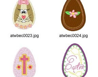 Eggstras ( 7 Machine Embroidery Designs from ATW ) XYZ17C