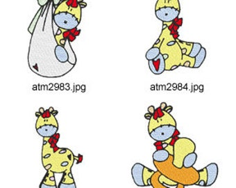 Baby-George ( 7 Machine Embroidery Designs from ATW ) XYZ17D