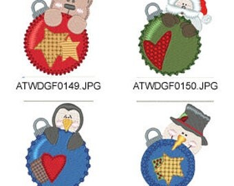 Ornament-Peekers ( 7 Machine Embroidery Designs from ATW ) XYZ17E