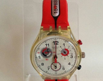Time To Call Swatch Watch - 1997 - SCK112 - Unworn