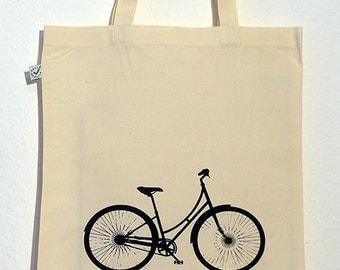 Bicycle Organic Cotton Gymsac or Tote in Black or Natural