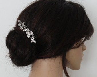 Diamante Hair Comb. Rhinestone Hair Comb. Crystal Hair Comb. Bridal Hair Accessories.