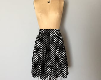 SALE...90s polka dot mini skirt | schoolgirl pleated mini skirt
