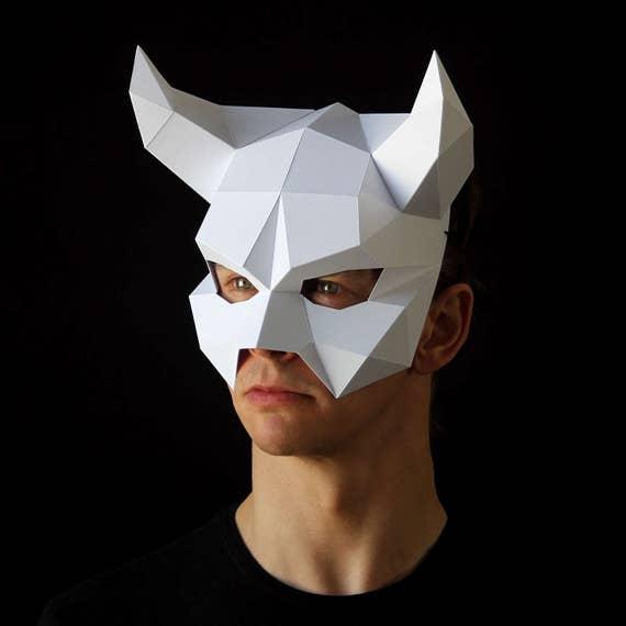 Devil mask make your own demon mask for halloween with this for Make your own halloween mask online