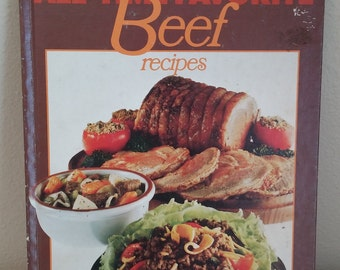 Vintage Better Homes and Gardens Hardcover All-Time Favorite Beef Recipes Cook Book, Vintage Cook Book, Vintage Kitchen, Retro Kitchen