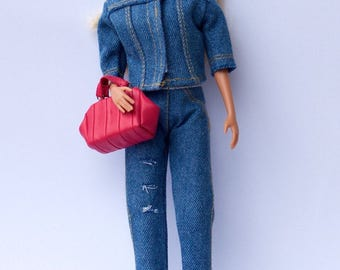Barbie clothes - Barbie outfit Barbie jacket Barbie pants Barbie denim