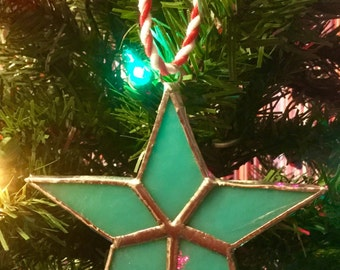 Stained Glass Christmas Star Christmas Tree Ornament By Sparkle Stained Glass