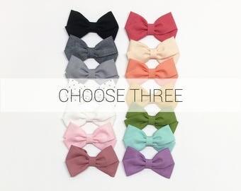 Baby Headband Set - CHOOSE 3 - Baby Headband - Clips or headbands