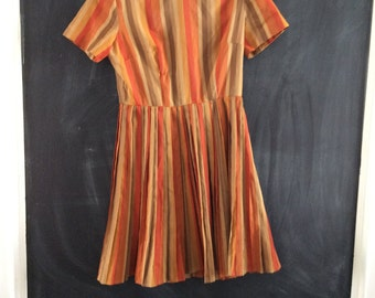 Dress vintage orange stripes