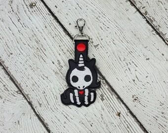 Skelli Unicorn Keychain/Zipper Pull
