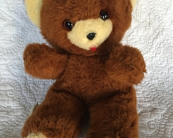 "Vintage Dollcraft Industries Brown 17"" Teddy Bear Made in the USA - New York"