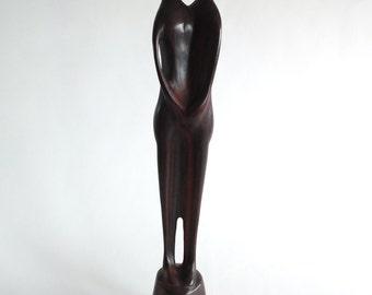 Danish Modern Rosewood Sculpture Signed Wilsen Danmark