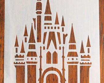 Fantasy Castle Stencil Mask Reusable Mylar Sheet for Arts & Crafts