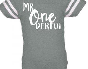 Mr One Derful - 1st Birthday Onesie - Custom - Name on BACK