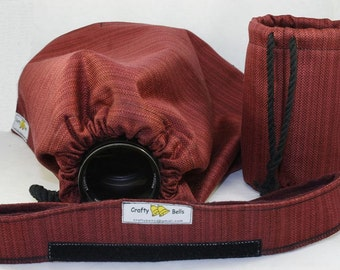 Camera and Lens Rain Cover Heavy Duty Photography Accessories Hand made Protect rain or water splash carry bag included