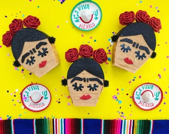 Frida kahlo mini pinata, Frida kahlo party, Mini pinata, Fiesta decorations, Mexican party decorations, Mexican fiesta decorations, Set of 3