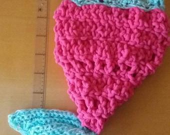 baby crochet blanket mermaid