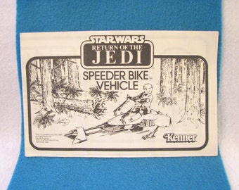 Star Wars ROTJ Speeder Bike Assembly Book