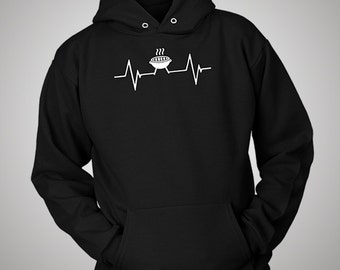 BBQ Barbecue Grilling Heartbeat Hoodie